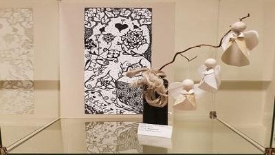 """LASS veikia Centro mokinių darbų paroda """"Ledo gėlės"""""""